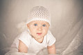 Free Baby With Big Blue Eyes Royalty Free Stock Photos - 26691828
