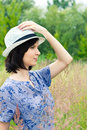 Free Girl In Straw Hat Royalty Free Stock Photos - 26692448