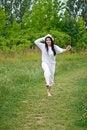 Free Joyful Jumping Woman Stock Photos - 26692533