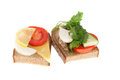 Free Two Bits Rye-bread With Canned Fish And Cheese Stock Images - 26692624