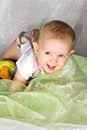 Free Smiling Girl By Crawling Royalty Free Stock Photography - 26692947