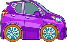Free Violet Cartoon Car Stock Photos - 26690923