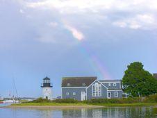 Rainbow Harbor Royalty Free Stock Images