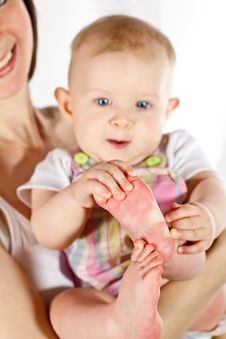 Baby S Feet Stock Image