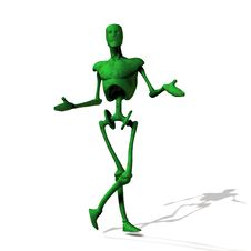 Free Green Cyborg On White Royalty Free Stock Image - 26697356