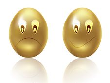 Free Sad Gold Eggs Royalty Free Stock Image - 26697476