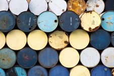 Free Old Fuel Tanks Stacked Stock Photo - 26697990