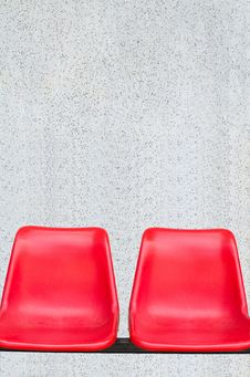 Free Red Chair With Marble Walls Stock Photography - 26698142