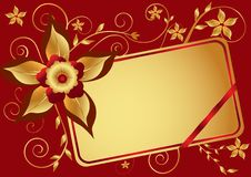 Free Red Floral Background Royalty Free Stock Photo - 26698355
