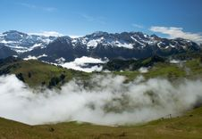 Free Fog In Swiss Alps Stock Photos - 26699453
