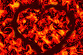 Free Fire Heart Royalty Free Stock Image - 2677826