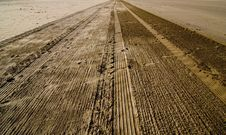 Free Sand Tracks Stock Photos - 2670323