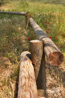 Free Timbered Fence. Stock Photos - 2670633
