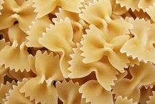Free Farfalle Pasta Shapes Royalty Free Stock Image - 2671856