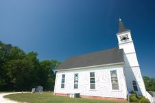 Free White Country Church Stock Photo - 2672000