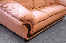 Pink Sofa Stock Photo