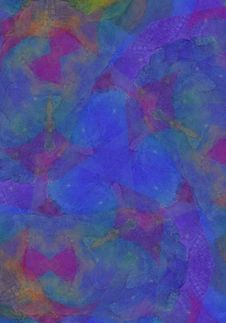 Art Oil Pastel Collage In Blue Stock Images