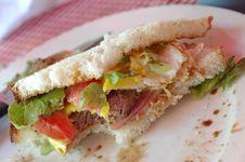 Sandwich Steak Stock Image