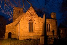 Free Old English Church At Dusk Royalty Free Stock Photos - 2676708