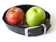 Free Two Apples In A Belt Stock Photo - 2677050