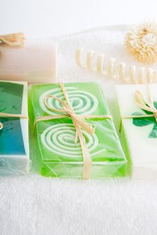 Free Soap On A Towel Royalty Free Stock Image - 2677206