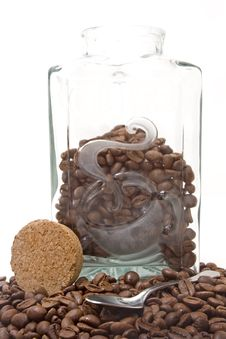 Free Jar Full Of Colombian Coffee Royalty Free Stock Photos - 2677998