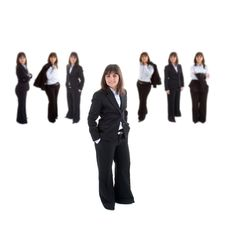 Free Business Woman Leading Team Stock Images - 2678294