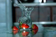 Free Strawberry And Water Spray Stock Photos - 2679773