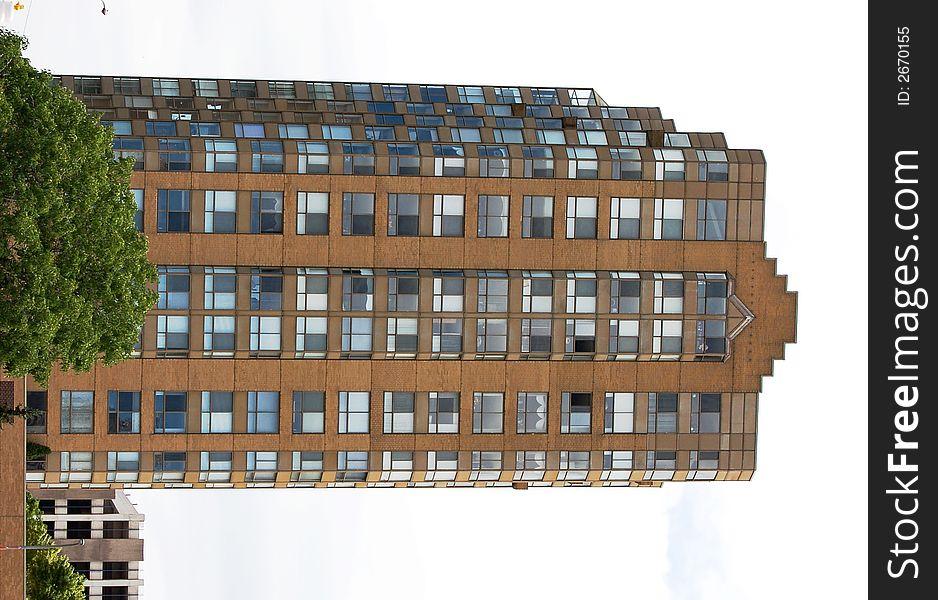 Tall, Brick, Office Building