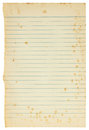 Free Old Paper Sheet Isolated Stock Photos - 26707873