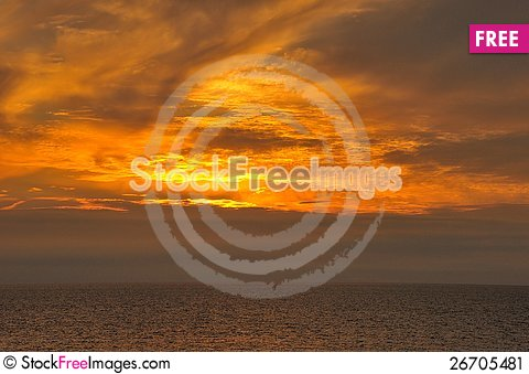 Free Flaming Sunset Stock Image - 26705481