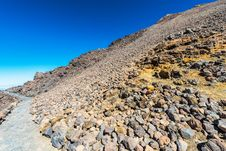 Landscape Route On Mount Teide Royalty Free Stock Images
