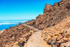 Landscape Route On Mount Teide Stock Photo