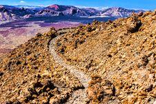 Landscape Route On Mount Teide Stock Images