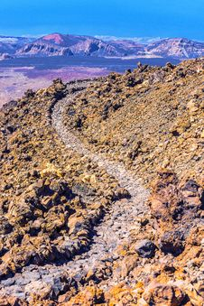 Landscape Route On Mount Teide Stock Image