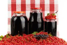 Free Harvest Of Berries And Home Preserves. Royalty Free Stock Photos - 26703408