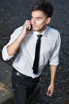 Free Man Calling By Phone Royalty Free Stock Images - 26703819