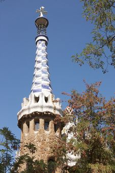 Free Barcelona. A Tower  At An Input In Park Guell Stock Image - 26705361