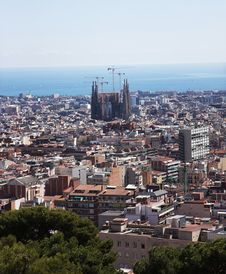 Free Barcelona, View From The Mountain Stock Image - 26705401