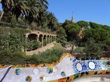 Free Barcelona. A Terrace  In Park Guell Stock Photography - 26705582