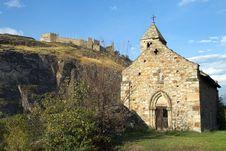 Free Castle Tourbillon And Chapel , Sion, Switzerland Royalty Free Stock Photo - 26705705