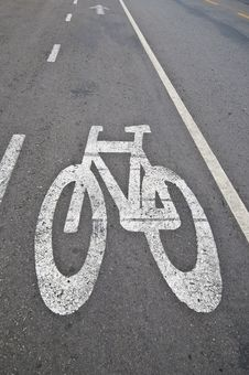 Free Bicycle Lane Stock Image - 26707281