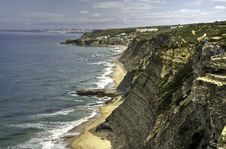 A Scene From Portugals Atlantic Coastline 2 Royalty Free Stock Photos