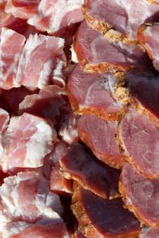 Free Fresh Meats Packed In Rows Royalty Free Stock Photo - 26707775