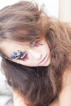 Free Artistic Woman Mime - Art Dramatic Make Up Royalty Free Stock Photo - 26708965