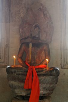 Old Hindu Statue Stock Image