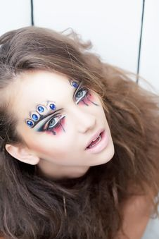 Free Beauty Woman, Painted Face - Body Painting Stock Photography - 26709012
