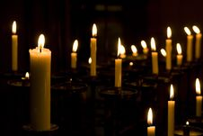 Free Many Candles At A Church Royalty Free Stock Images - 26709679