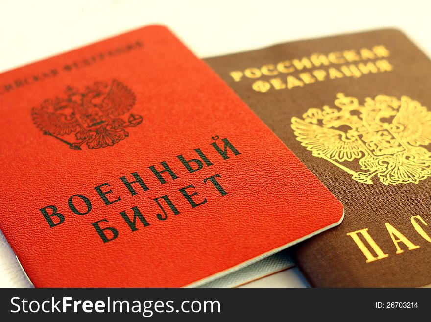 Military ticket and passport