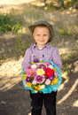 Free Smiling Young Boy Holding Flowers Royalty Free Stock Photos - 26718688